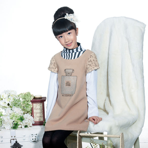 Custom Kids Clothes Winter Dress For Girls Trendy Children Clothes