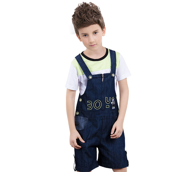 2017 Latest Boys Suspender Short Pants Personalized Kids Clothing