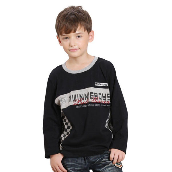 Kids Clothing Manufacturer Fashion Boys Long Sleeve T Shirt