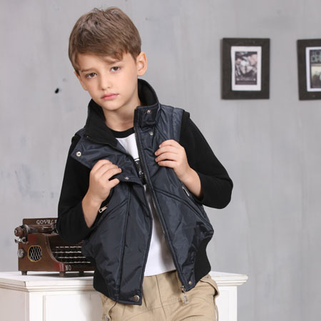 Practical Warm Kids Cotton-Padded Boutique Vest For Boys