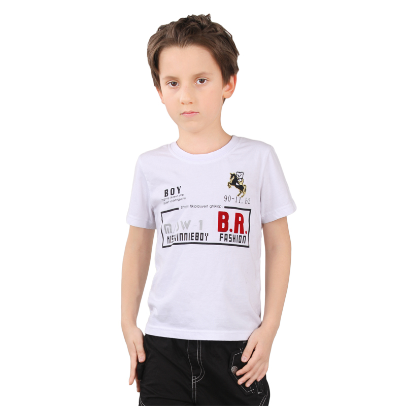 Organic Printing Boys T Shirt 2017 New Fashion Kids Clothing