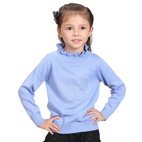 Hot Sale Warm Turtleneck Girls Sweater From Kids Clothes Vendor