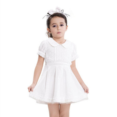 100% Cotton Kids Clothing Manufacturer Solid Color Girl Dress