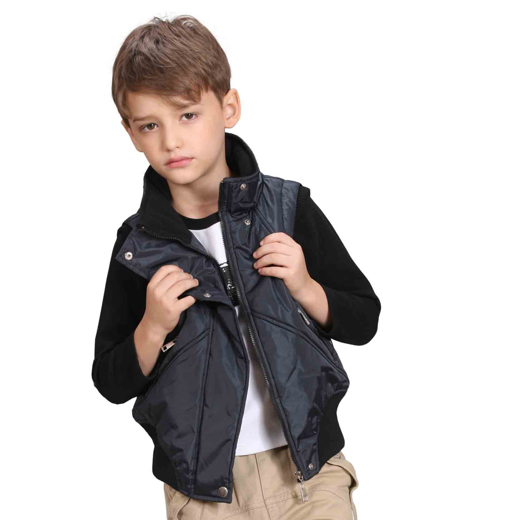 New Fashion Kids Outerwear Autumn Warm Sleeveless Boys Vest