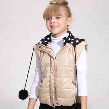 Children's Vests Waistcoat Baby Girl Cotton-Padded Jacket Vest