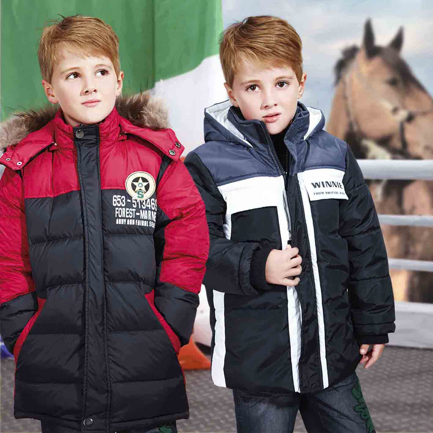 2016 Collection Winter Waterproof Material Padded Boys Coat