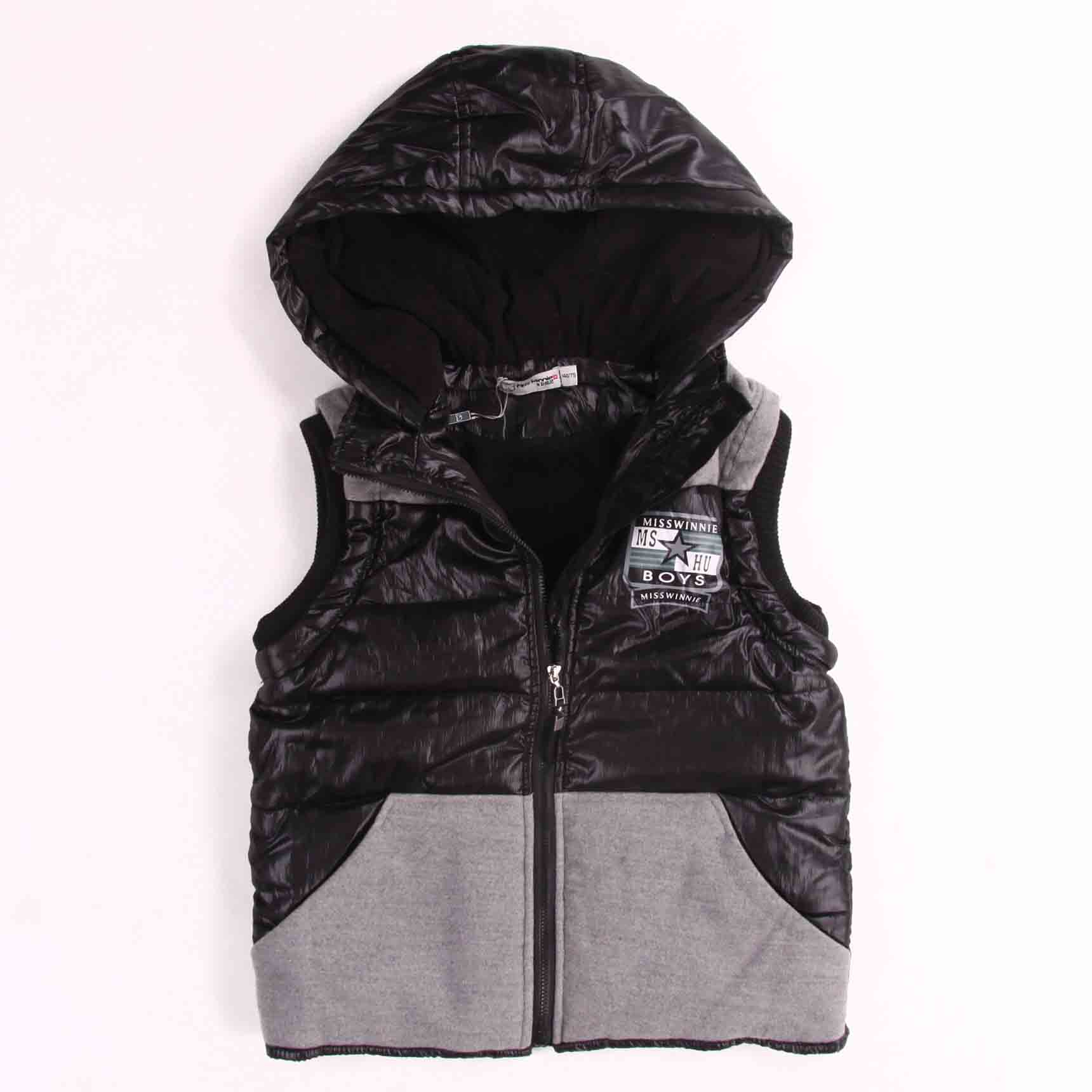 High Quality Wholesale Puffy Hooded Boys Vests China Manufacturer