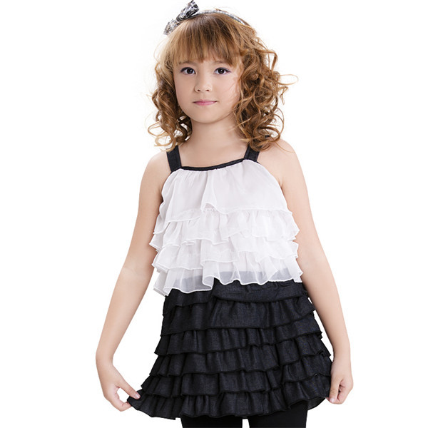 Wholesale Professional Manufacturer Girls Ruffle Tulle Dress