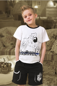 Customized boys summer clothing set with top quality