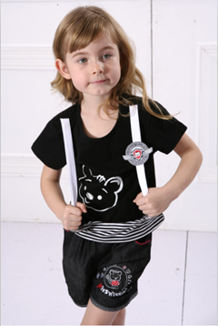 Brand children apparel lovely girls clothing sets