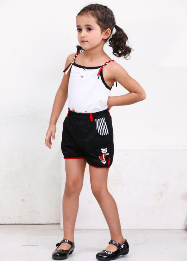 Girls Short Pants New Fashion Girls High Waisted Shorts