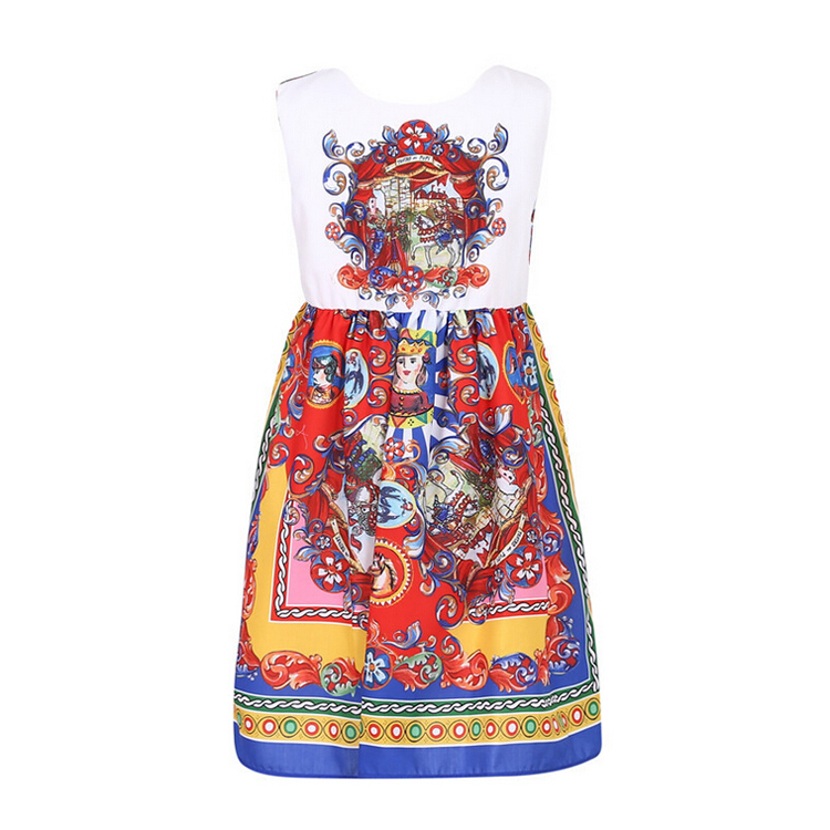 ethnic style girl dress summer skirt custom clothing