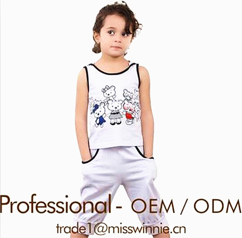 90e3851ab33 Custom Kids Clothing Supplier Little Girls Short Outfit Designer Clothes Set