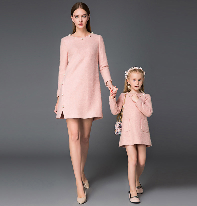 New Style Family Clothing Mother and Daughter Render Dress