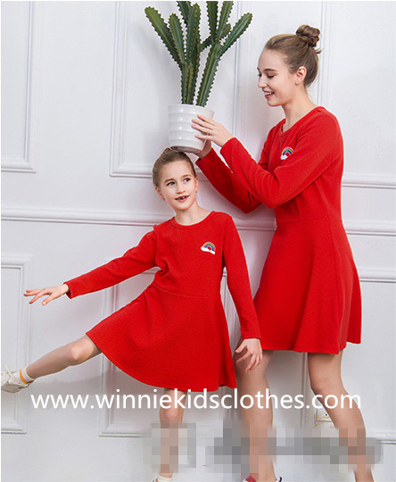 2017 Spring Series New Styles European Dress Family Clothing