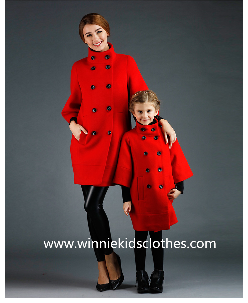 Double-breasted Cashmere Family Clothes Woolen Coat