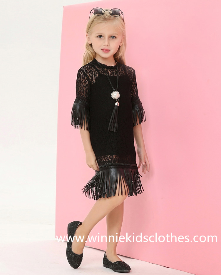 New Style Family Clothes Fashion Lace Girls Dress