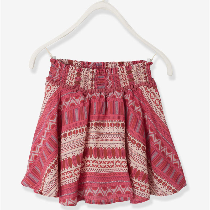 Girls Pink Printed Skirt Custom Girls Dresses Children's Boutique Clothing