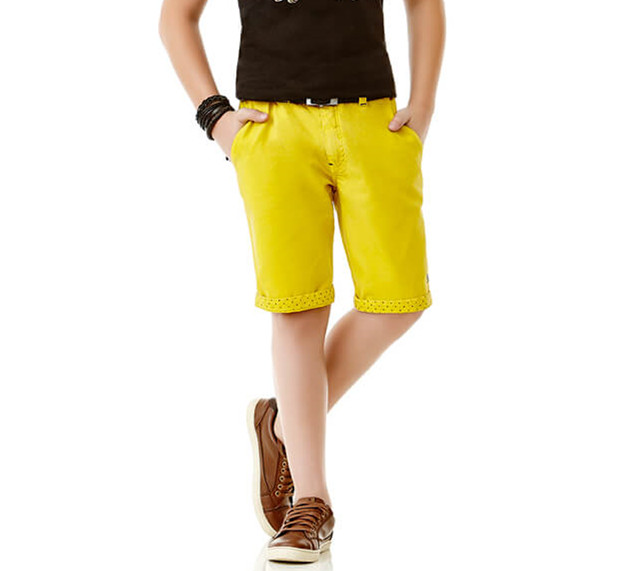 Summer Yellow Children Shorts Boys Short Pants Kids Clothes