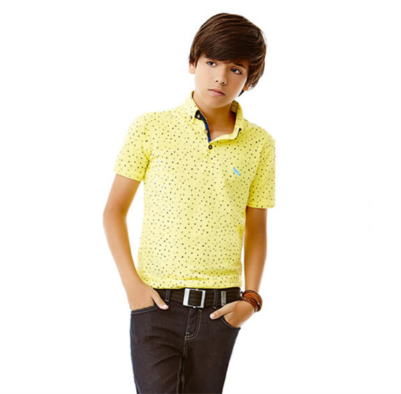 Kids Clothes Online 100% Cotton Boys Short Sleeve Polo Shirt