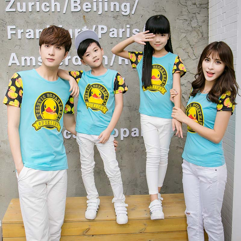 Trendy Family Clothing Sets Printed Family Tshirt Long Thin Pants