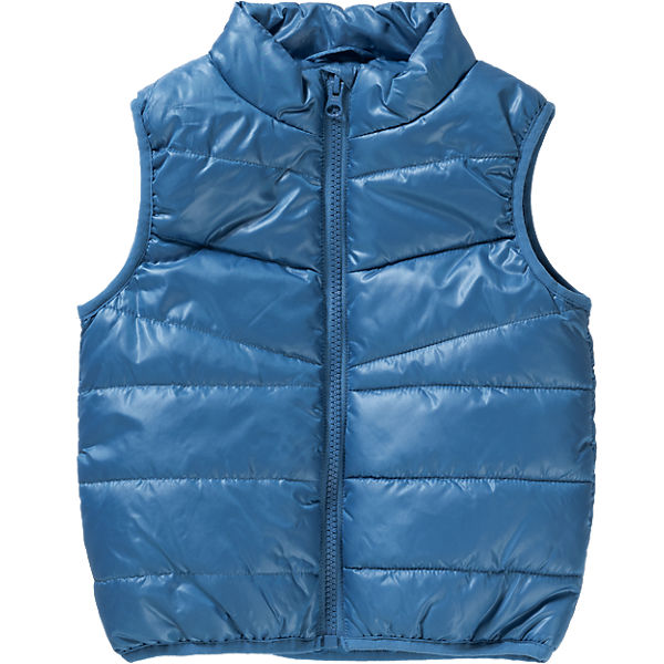 Quilted Vest for Boys Standing Collar Personalized Kids Apparel