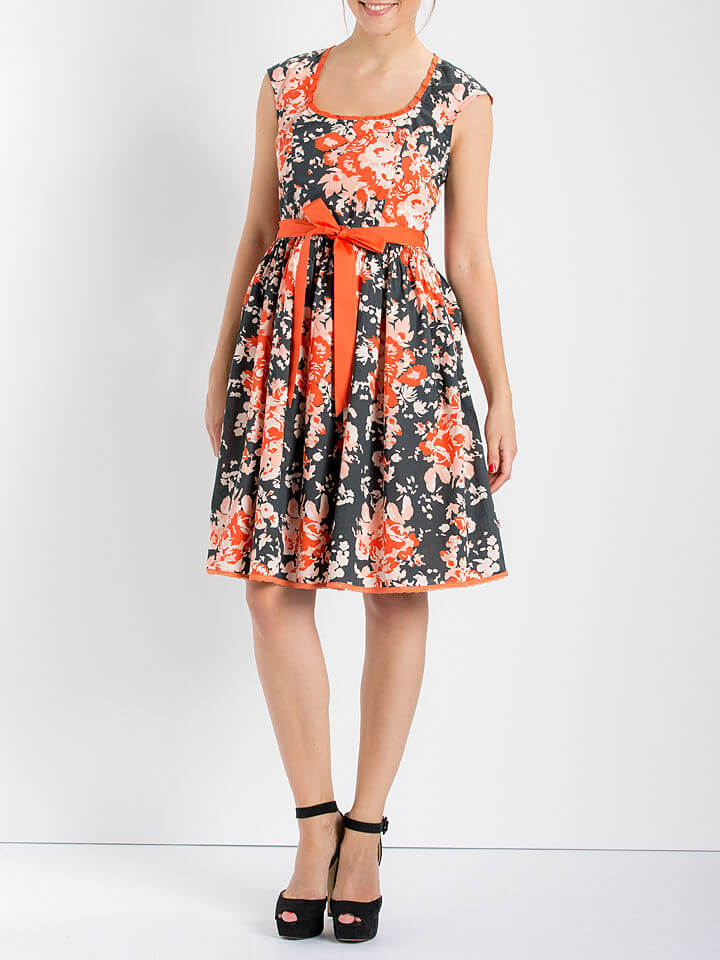 Fashion Dresses for Ladies in Anthracite/Apricot Womens Fashion Clothing