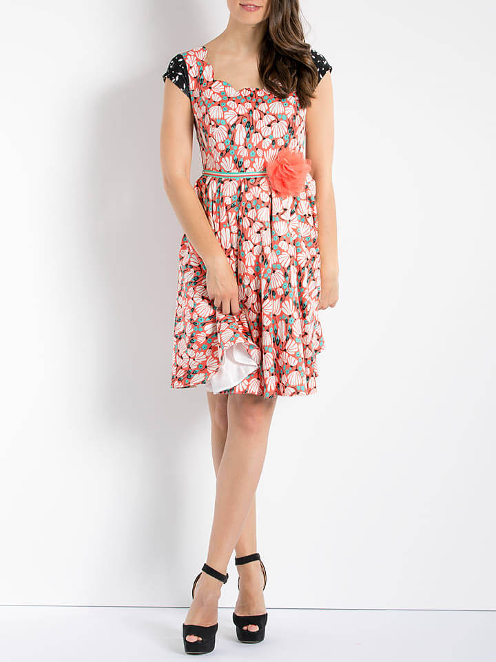 Lady Summer Allover Dresses in Apricot/Bunt Stylish Clothes for Women
