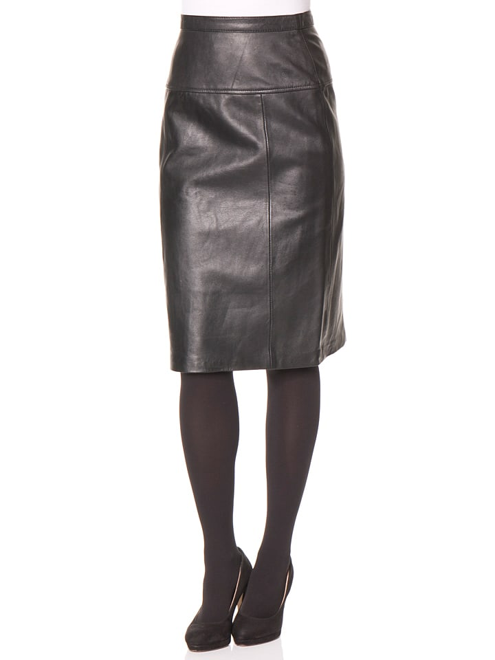 Trendy Women's Clothing Boutiques Online Black Leather Skirt