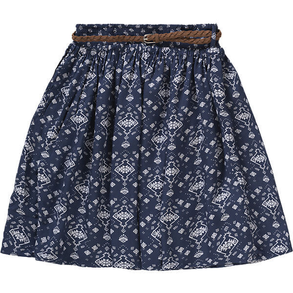 Trendy Kids Fashion Girls Pleated Printed Skirt Custom Girl Clothing