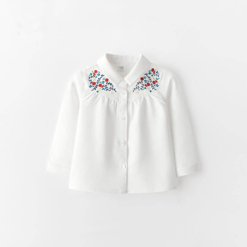 Stylish Embroidered Shirts for Girls Exclusive Baby Girl Clothes