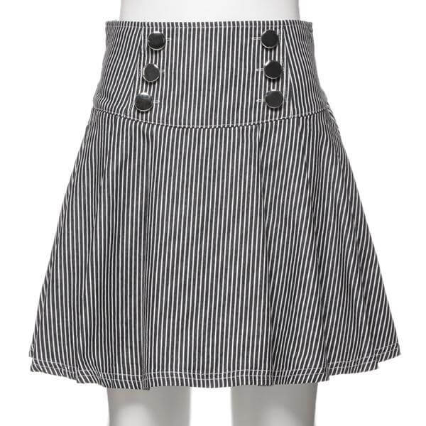 Baby Girl Designer Flare Skirt with Six Buttons Fashion Kids Clothes