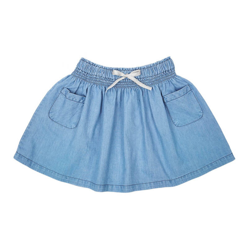 Girls A-line Jeans Skirt Short Childrens Trendy Clothes