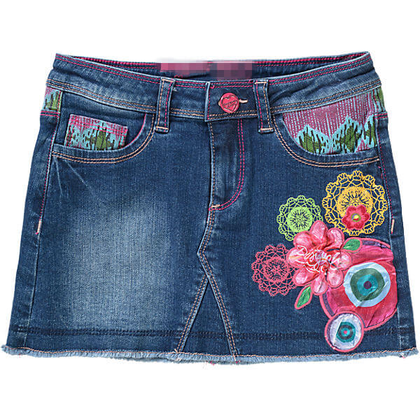 Pretty Embroidered Appliqued Girls Skirt Custom Girl Clothing