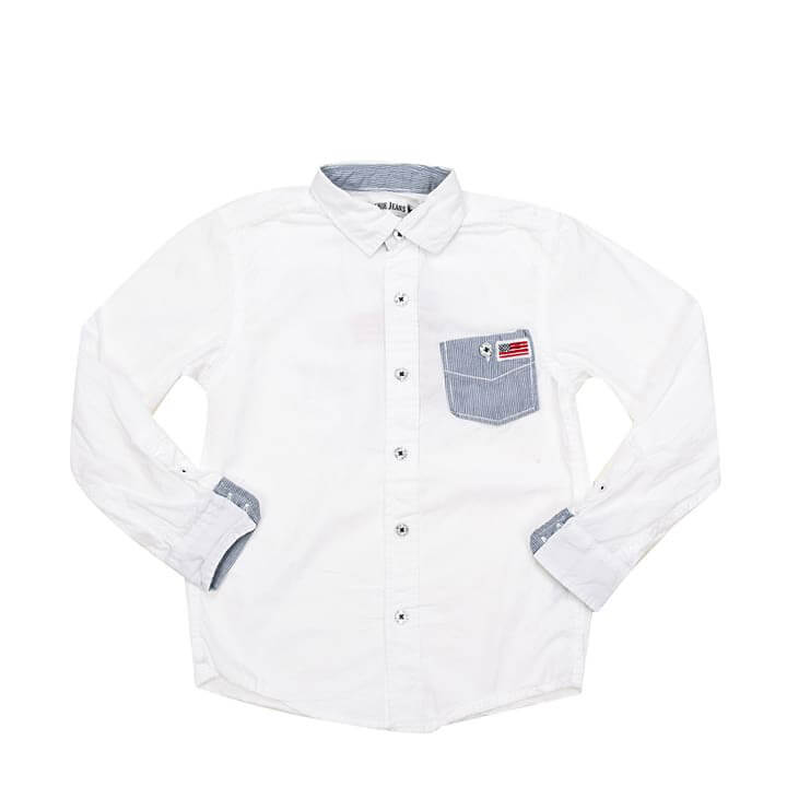 Kids Fashion Supplier White Shirt for Baby Boy Children's Clothing