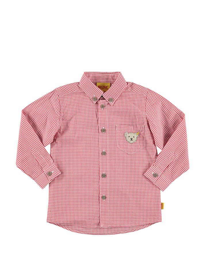 Kids Designer Clothes Baby Boys Plaid Shirt in Red/White