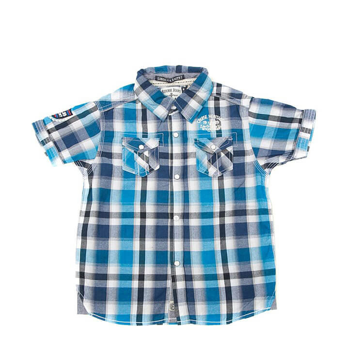 Kids Fashion Clothes Boys Sleeveless Shirt in Blue/Multi-color
