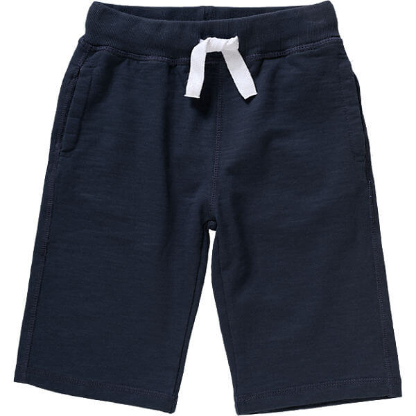 Dark Blue Pure Cotton Sweat Shorts for Boys Customized Kids Clothes