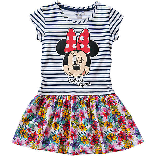 Custom Kids Clothes New Fashion Disney Minnie Mouse Kids Dress