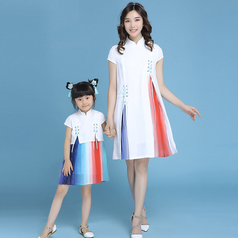 Summer 2018 mother and daughter clothing