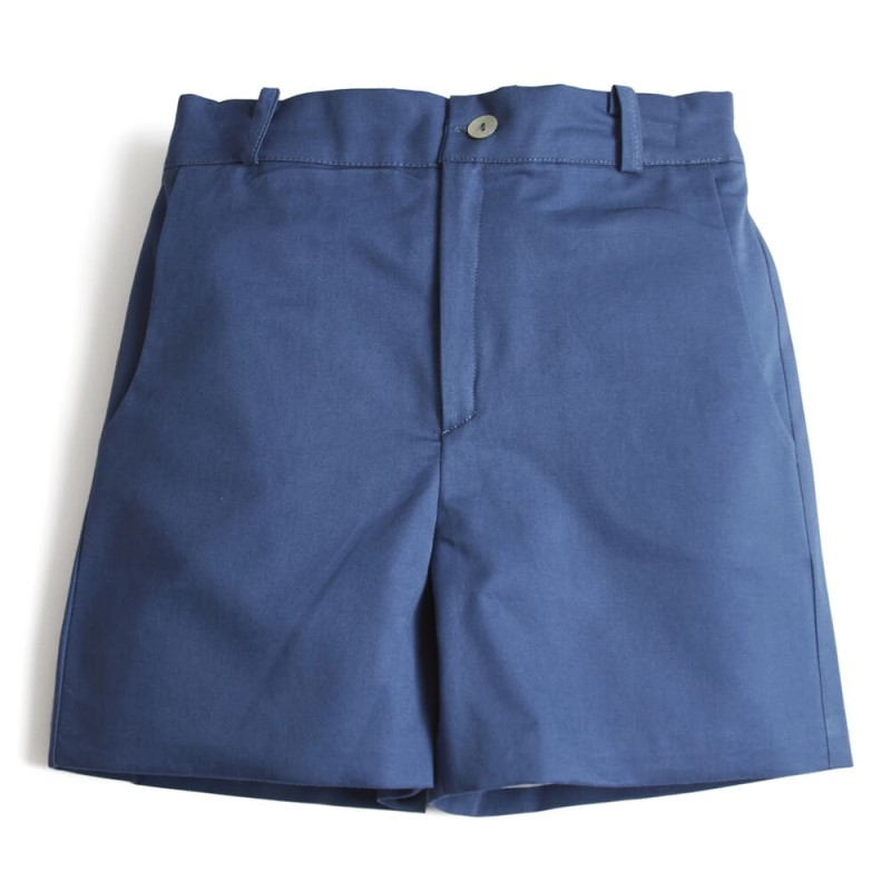 kids blue shorts the front side