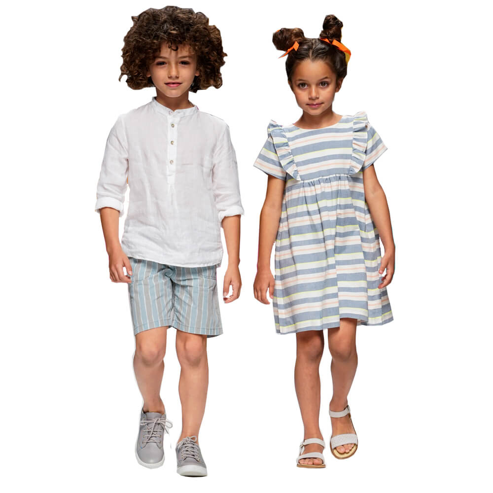 Striped Kids Clothing Set for Little Boys and Girls