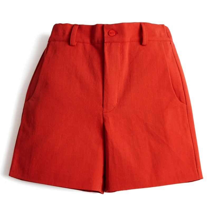 Toddler Boys Flat Front Shorts Red Wholesale