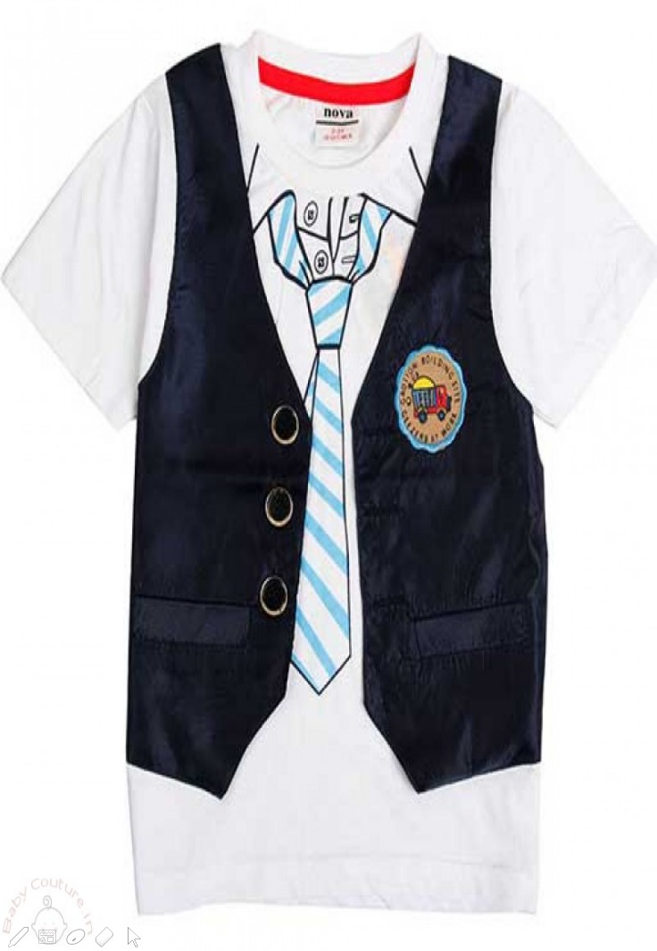 Kids clothes Stylish Boy Tie & Vest Set