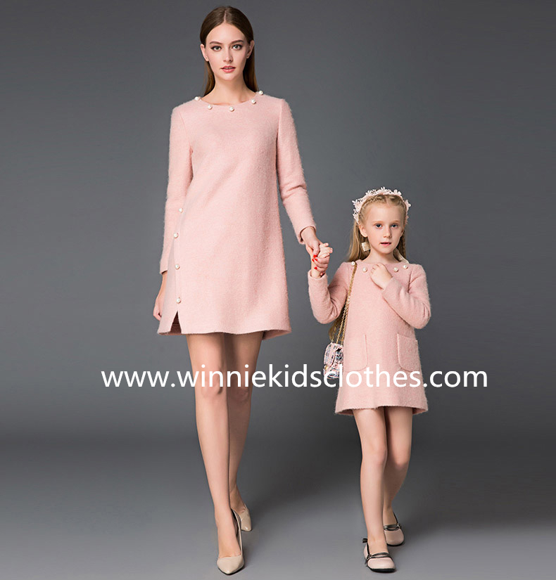 mother and daughter render dress