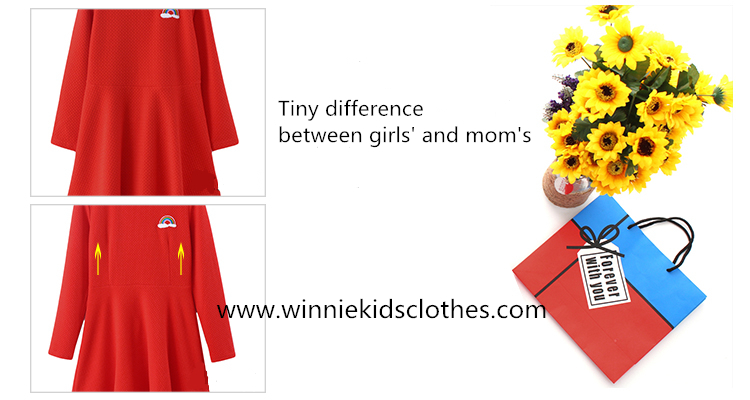 tiny style between mother dress and daughter dress