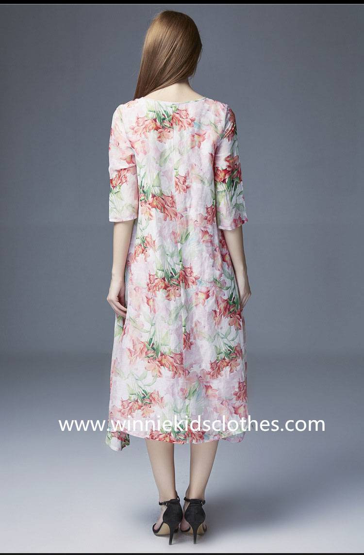 chinoiserie family clothing retro dress