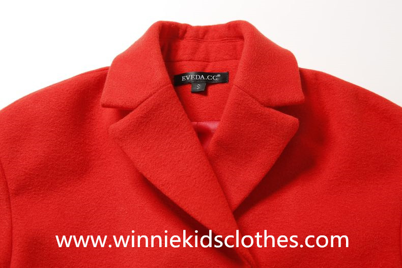 woolen coat turn-down collar design