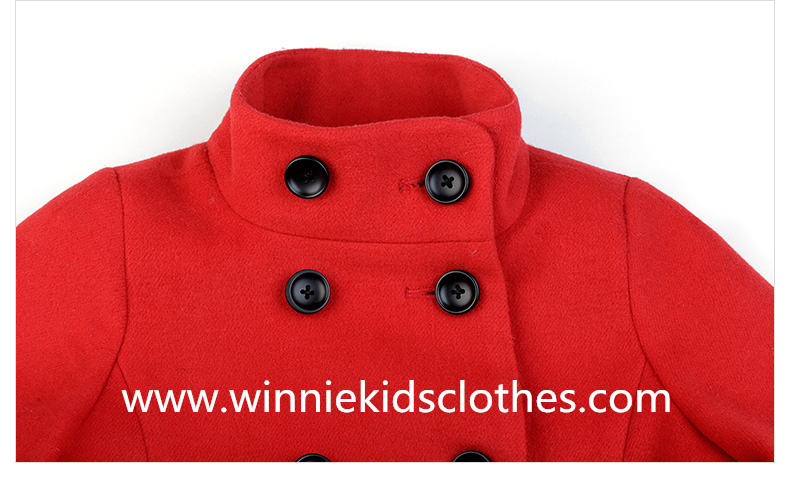 double-breasted family clothes woolen coat