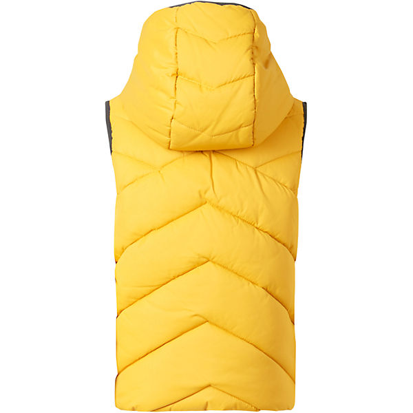 yellow vest with fleece lining for boys back